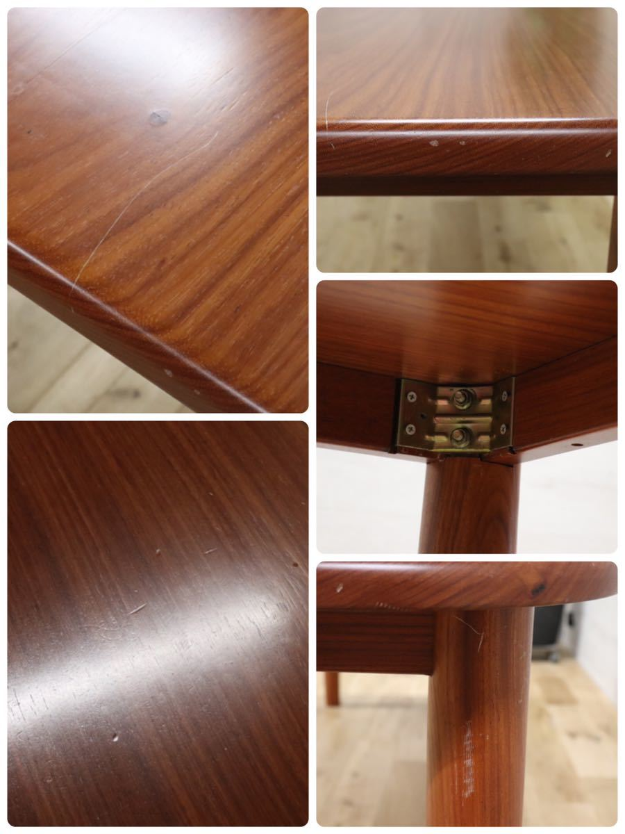 GMDKS241 ○ 北欧 ヴィンテージ スタイル 大型 ダイニングテーブル 作業台 店舗 カフェ 什器 天然木 無垢材_画像8