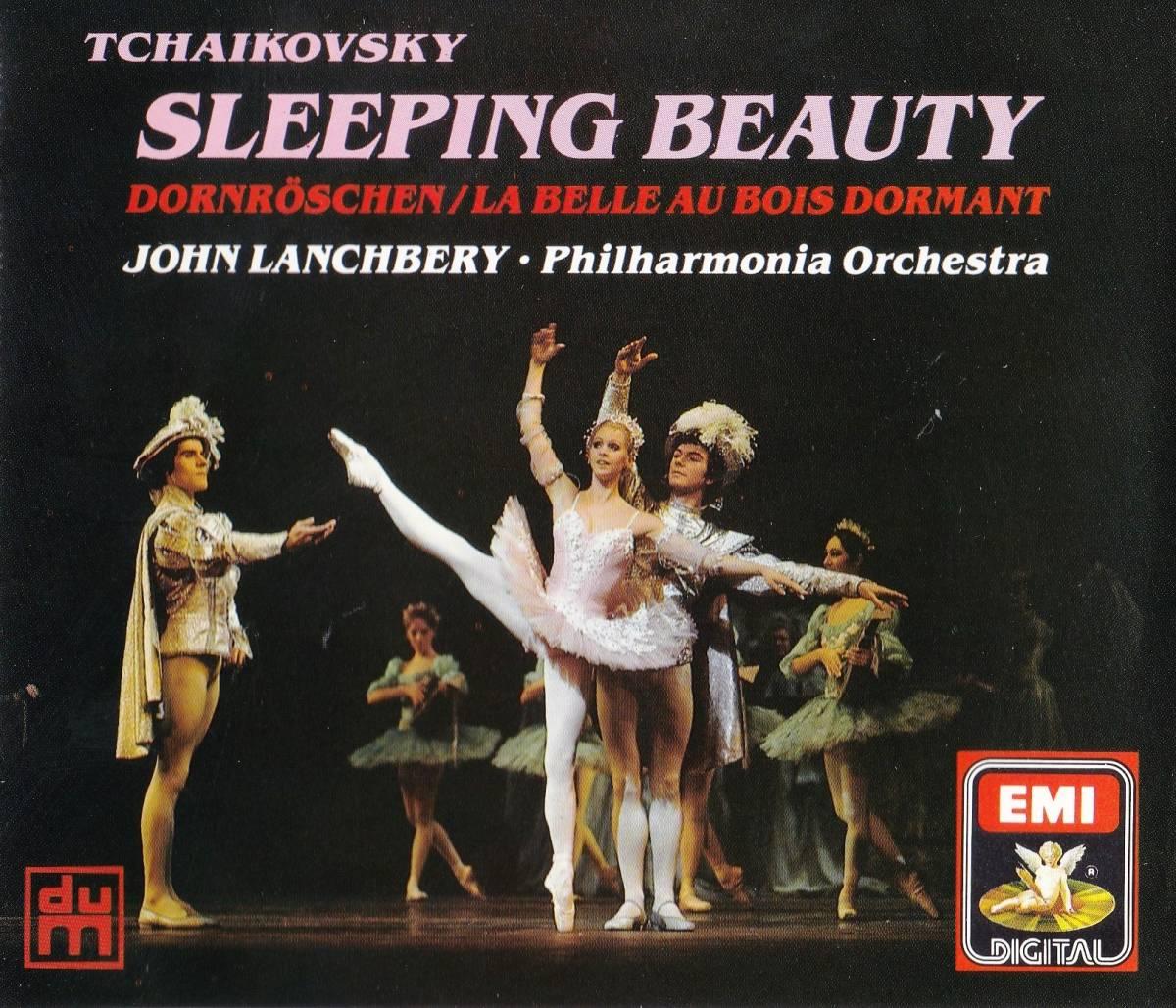 廃盤超希少 2CD 初期UK盤 ジョン・ランチベリー フィルハーモニア管 チャイコフスキー バレエ音楽『眠れる森の美女』 Op.66 全曲_画像1