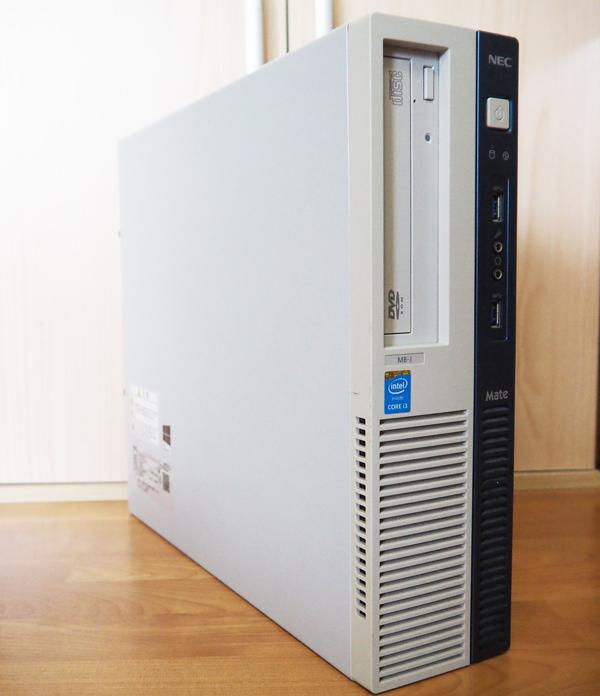 【中古】1円~ NEC デスクトップパソコン PC-MK35LBZDJ SSD換装済 リカバリディスク付