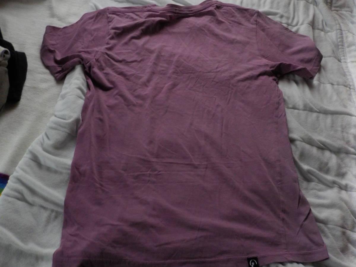 ヒスグラ★初期・セクシーなダブルヒスガールのプリントの半袖Tシャツ(難・m・濃い藤色)_画像4