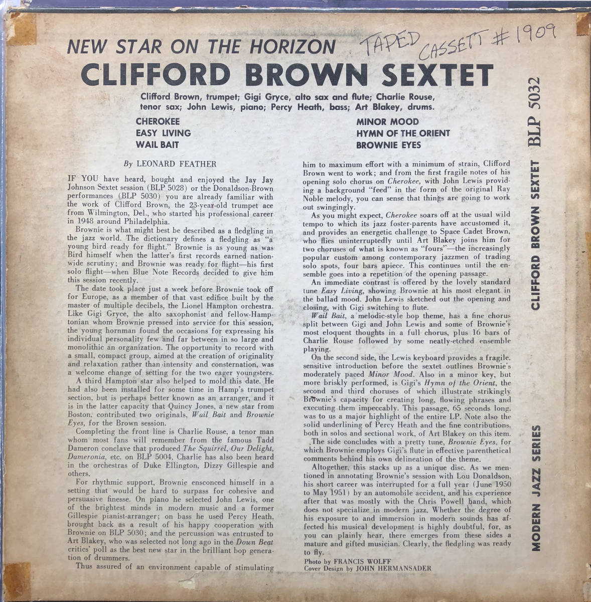 New Star On The Horizon / Clifford Brown / Blue Note 5032 / 10inch LP_画像2