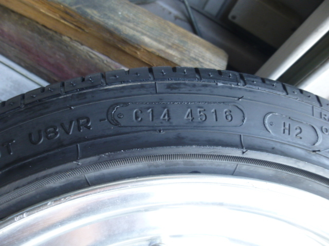 スピードスター ロンシャン XR-4 14インチ 4穴114.3 旧車 ヘラフラ 4本  タイヤ付き 売り切り!_画像9