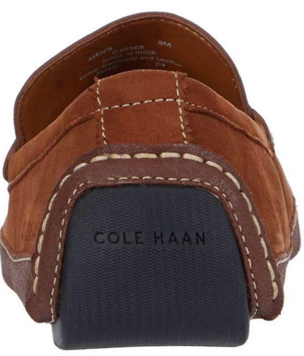 送料無料 Cole Haan 29.5cm ペニー ローファー ブラウン ブリティッシュ タン レザー ビジネス ドライビング ローファー サンダル H326_画像7
