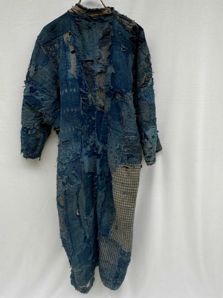究極の襤褸 明治期 襤褸 野良着 ボロ 藍染め 継ぎ接ぎ 溶けた木綿 アンティーク Japanese Antique boro アートピース 博物館級 資料 00s10s_画像10