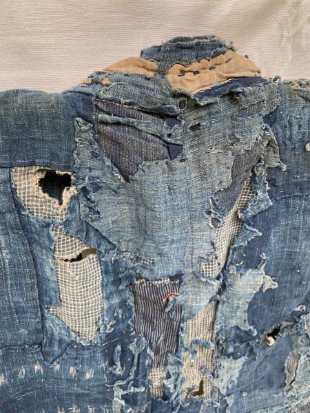 究極の襤褸 明治期 襤褸 野良着 ボロ 藍染め 継ぎ接ぎ 溶けた木綿 アンティーク Japanese Antique boro アートピース 博物館級 資料 00s10s_画像6