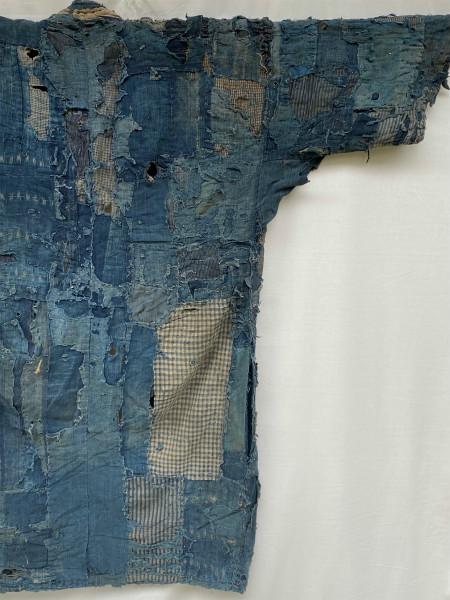 究極の襤褸 明治期 襤褸 野良着 ボロ 藍染め 継ぎ接ぎ 溶けた木綿 アンティーク Japanese Antique boro アートピース 博物館級 資料 00s10s_画像5