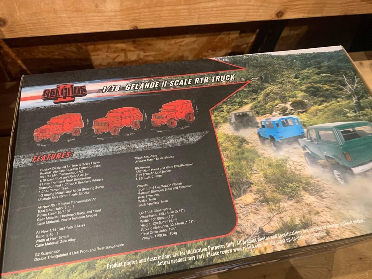 RC4WD 1/18 GELANDE Ⅱ 2 RTR W/BLACK ROCK BODY SET 新品未開封 Jeep WRANGLER JK風 ラジコン 送料込み