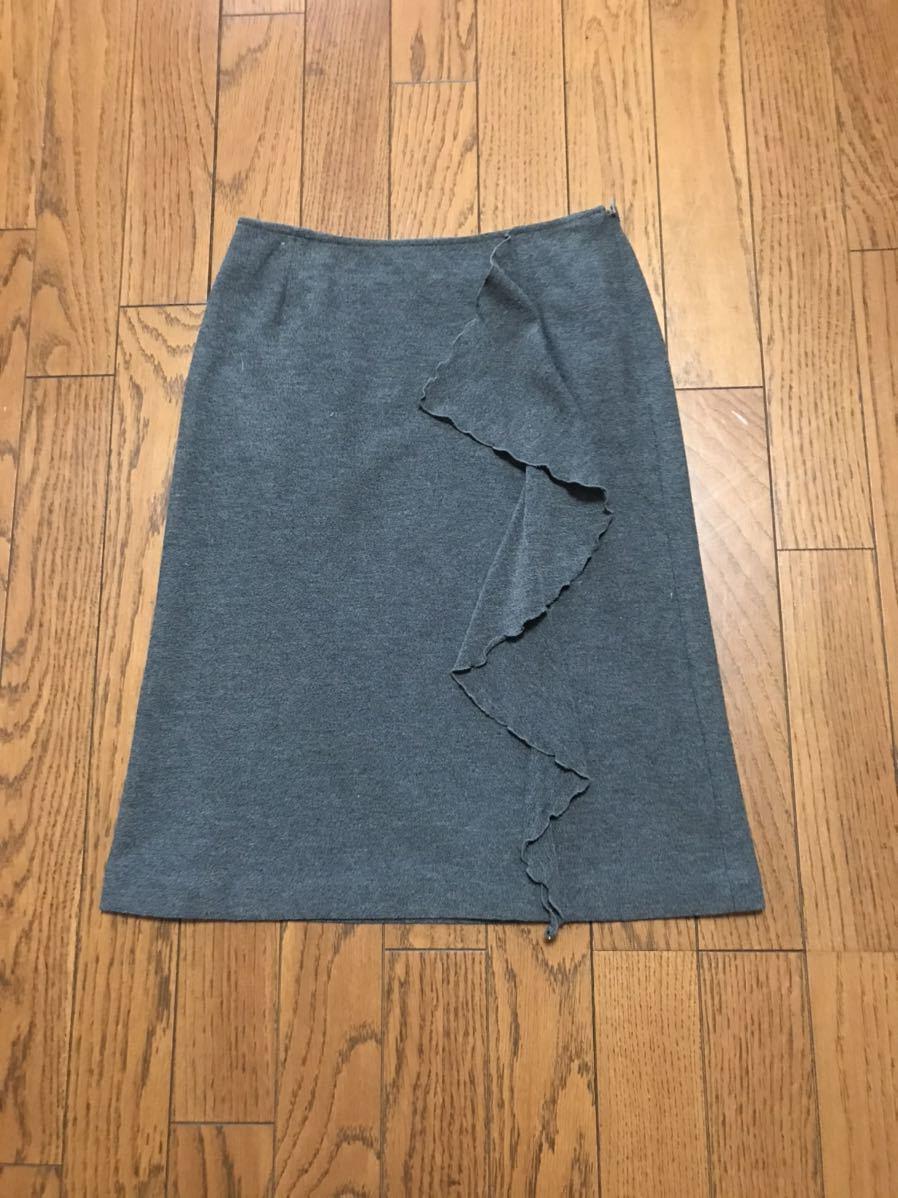 タイトスカート フレアスカート グレー色 Sサイズ (スカート丈 約53cm)