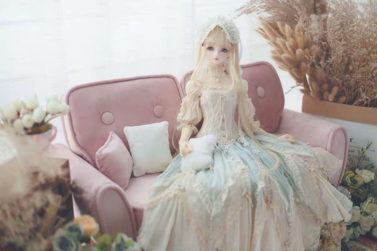 特価商品 BJDドール用ソファー SD/DDサイズ通用 家具 椅子 球体関節人形 doll 生地のオーダー可能_画像1