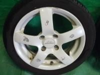 ワゴンR MC22S スズキスポーツ 14インチ 14×5J 45 白 ホイール タイヤ付 4本セット 4穴 送料×2_画像4