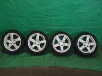 ワゴンR MC22S スズキスポーツ 14インチ 14×5J 45 白 ホイール タイヤ付 4本セット 4穴 送料×2_画像1