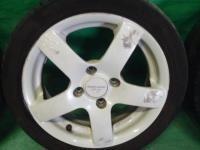 ワゴンR MC22S スズキスポーツ 14インチ 14×5J 45 白 ホイール タイヤ付 4本セット 4穴 送料×2_画像5