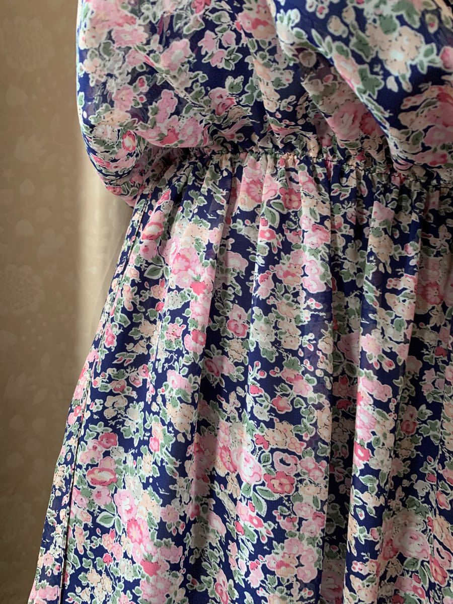 花柄チュニックワンピース ブラウス