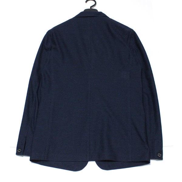 新品 ブラックレーベル クレストブリッジ リネン混(麻)Wフェイス サマージャージー テーラードジャケットM(2) 紺◆BLACK LABEL CRESTBRIDGE_画像4