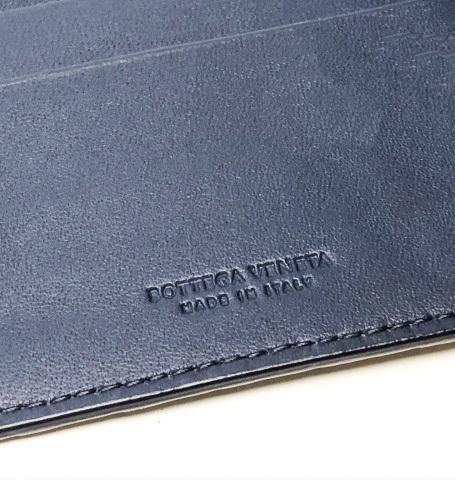 未使用品 ボッテガヴェネタ 二つ折りマネークリップ 財布 123180 V4651 4013 メンズ イントレチャート カーフレザー ライトトルマリン_画像9