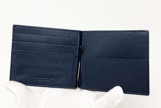 未使用品 ボッテガヴェネタ 二つ折りマネークリップ 財布 123180 V4651 4013 メンズ イントレチャート カーフレザー ライトトルマリン_画像7