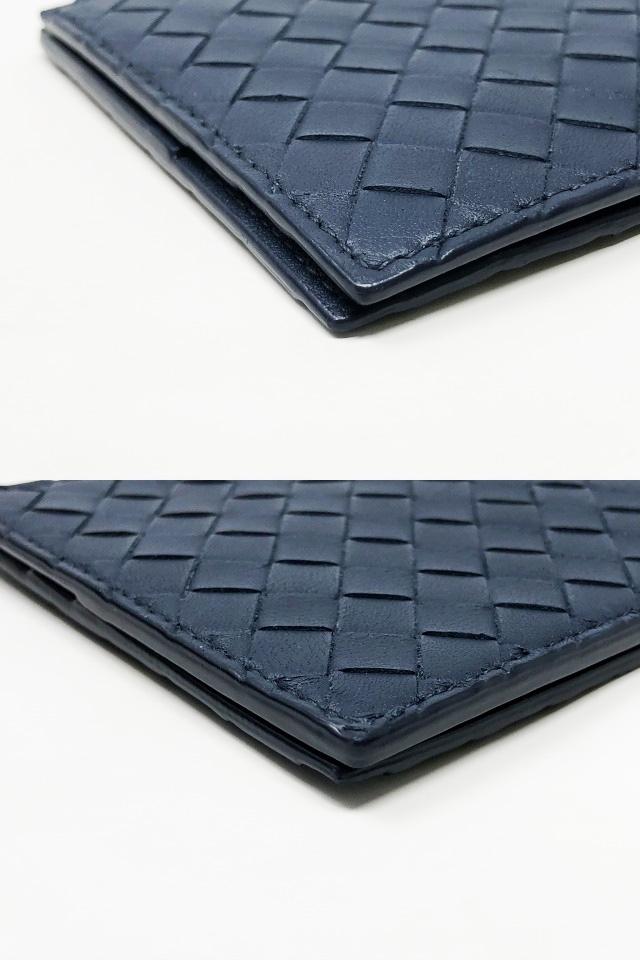 未使用品 ボッテガヴェネタ 二つ折りマネークリップ 財布 123180 V4651 4013 メンズ イントレチャート カーフレザー ライトトルマリン_画像5
