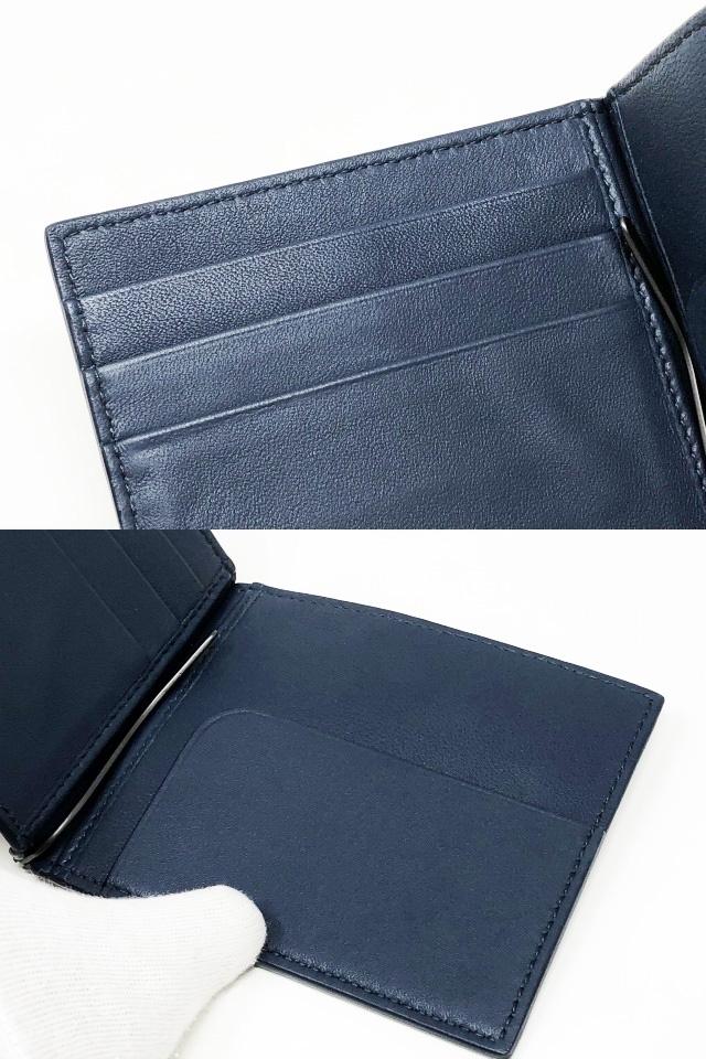 未使用品 ボッテガヴェネタ 二つ折りマネークリップ 財布 123180 V4651 4013 メンズ イントレチャート カーフレザー ライトトルマリン_画像8
