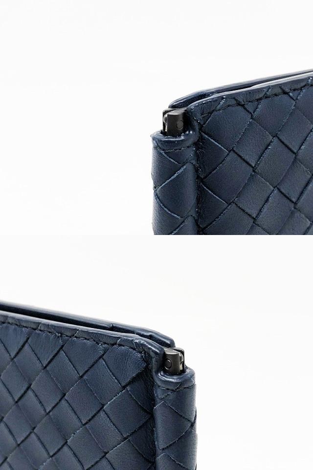 未使用品 ボッテガヴェネタ 二つ折りマネークリップ 財布 123180 V4651 4013 メンズ イントレチャート カーフレザー ライトトルマリン_画像4