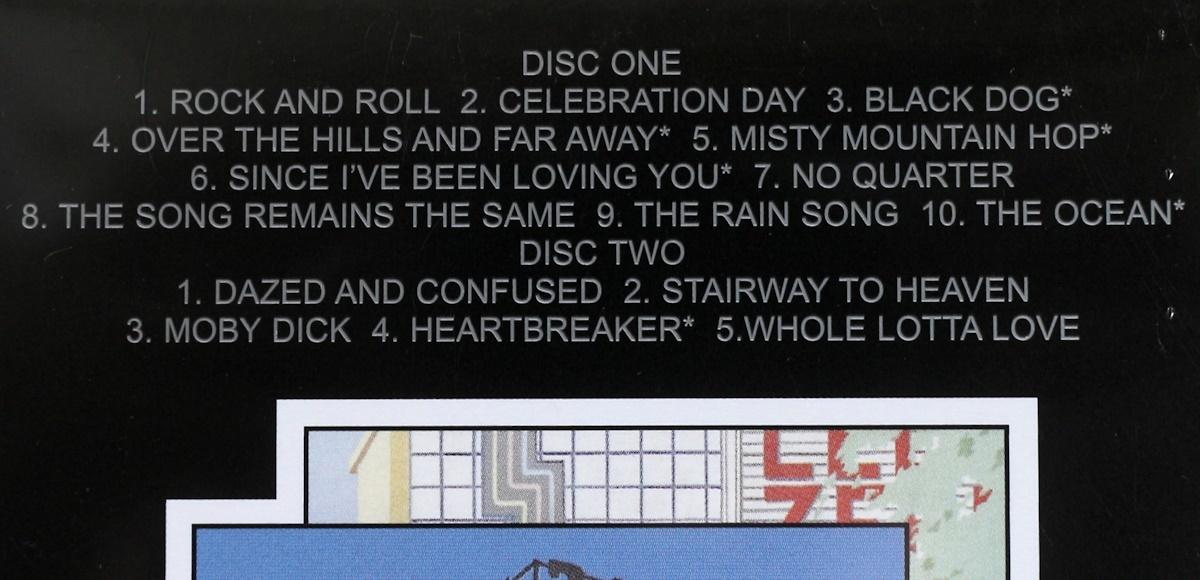 欧州製/CD/2枚組/レッド・ツェッペリン/永遠の詩・狂熱のライヴ/Led Zeppelin/The Song Remains the Same/2007_曲目