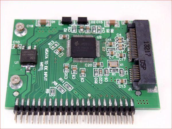 mSATA(mini SATA) SSD → 2.5インチIDE(5V) 44pin変換アダプタ _画像3