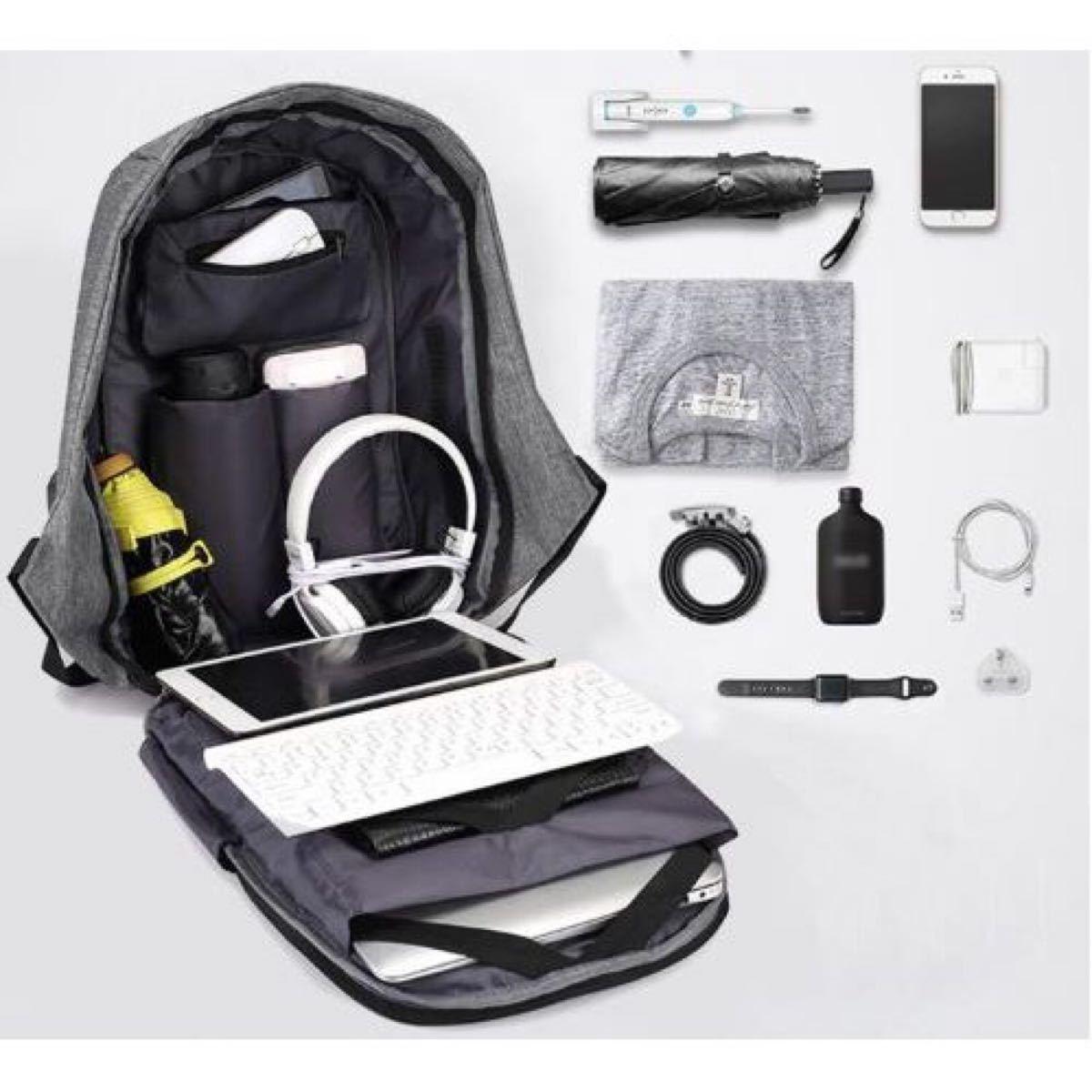 ビジネスリュック PCバッグUSB充電デザイン 大容量 耐衝撃 撥水加工