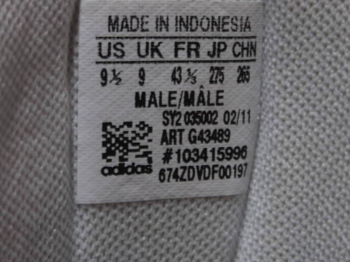 激レア ヴィンテージ 美品 adidas country カントリーネイビー ヴィンテージ復刻 生産終了モデル 2011years made アディダス 紺27.5cm_画像6