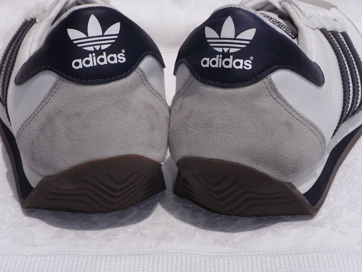 激レア ヴィンテージ 美品 adidas country カントリーネイビー ヴィンテージ復刻 生産終了モデル 2011years made アディダス 紺27.5cm_画像3