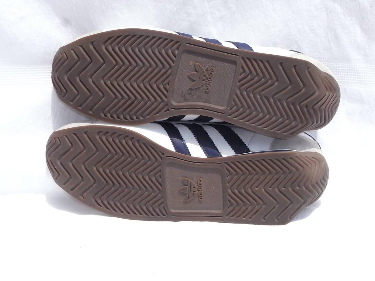 激レア ヴィンテージ 美品 adidas country カントリーネイビー ヴィンテージ復刻 生産終了モデル 2011years made アディダス 紺27.5cm_画像5