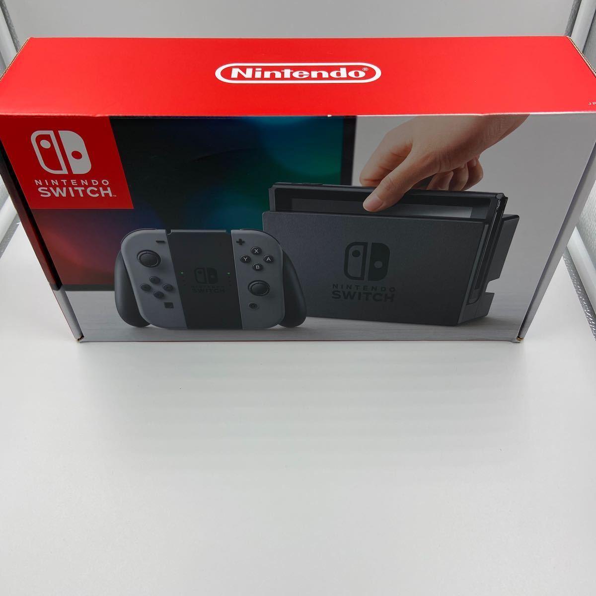 .*訳あり・ジャンク品*Nintendo Switch 本体 (ニンテンドースイッチ) 【Joy-Con (L) / (R) グレー】