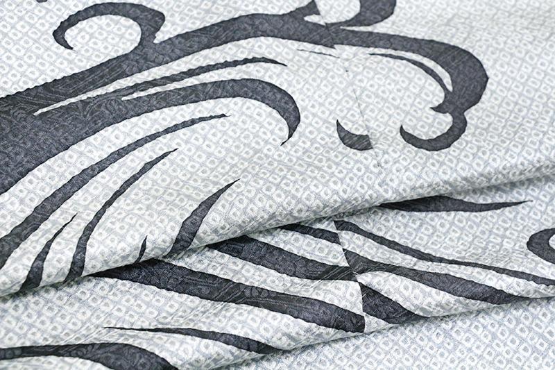 ※お仕立付!袷・単衣選択特撰総絞り訪問着☆手描き工芸波文トールサイズ仕様【即決価格】_画像9