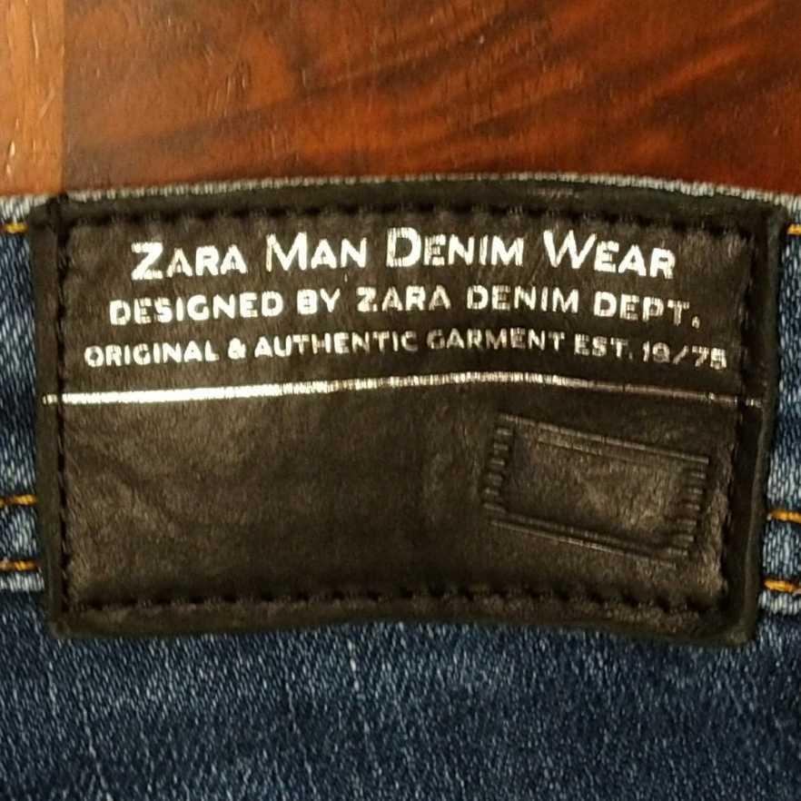 ZARA ストレッチ スキニー ジーンズ EUR38/w30inch ザラ メンズ プレミアム デニム パンツ インディゴ 細身