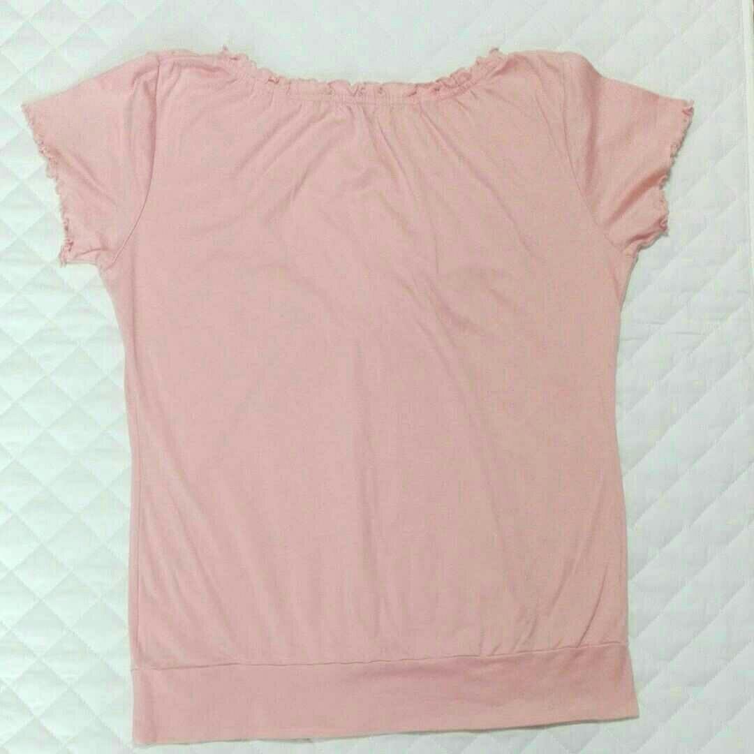 L トップス カットソー 女性用 レディース コットンTシャツ 綿100%