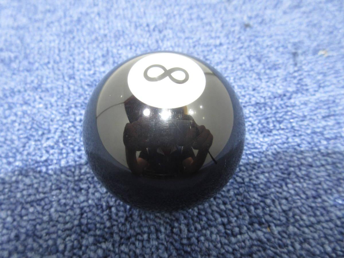 8ボール シフトノブ 12×1.25 直径約55mm ブラック_画像2