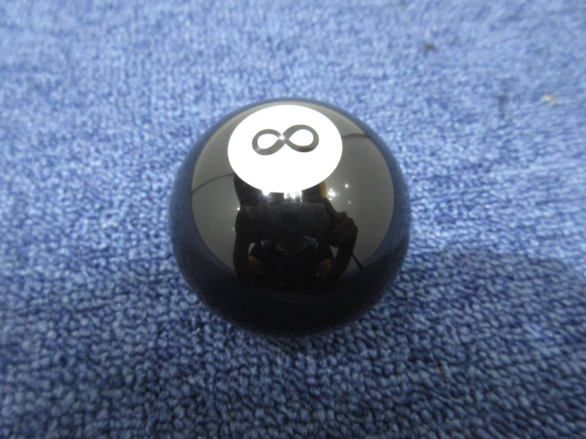 8ボール シフトノブ 12×1.25 直径約55mm ブラック_画像4