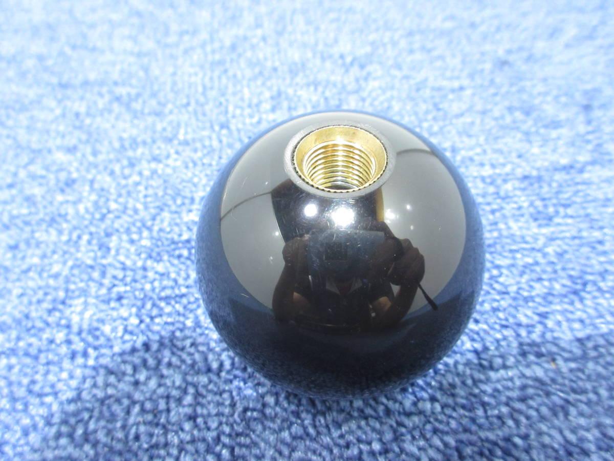 8ボール シフトノブ 12×1.25 直径約55mm ブラック_画像5