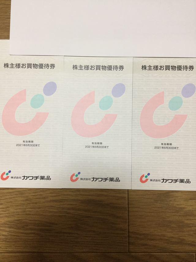2021年6月30日まで カワチ薬品株主優待券 15000円分_画像1
