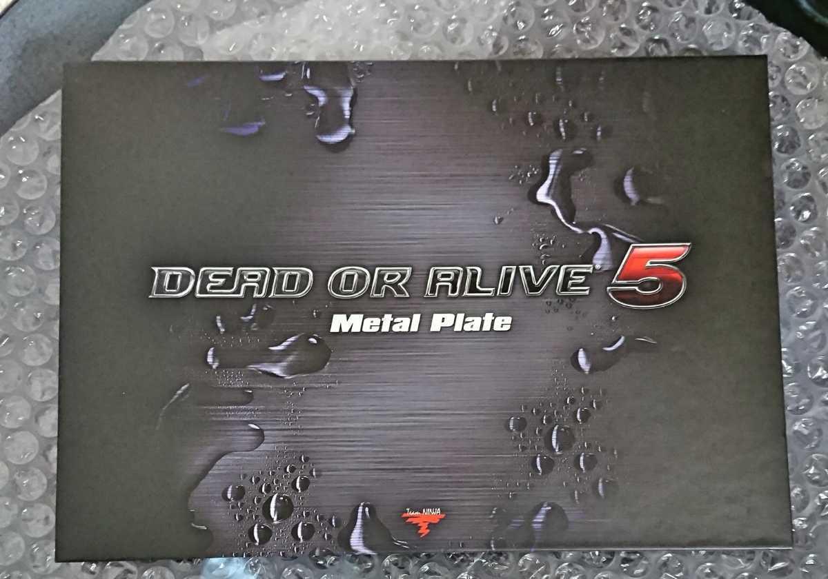 20e【限定 非売品 未使用 保管品】 DEAD OR ALIVE 5 デッドオアアライブ5 アートブック & メタルプレート セット コレクターズエディション_画像4