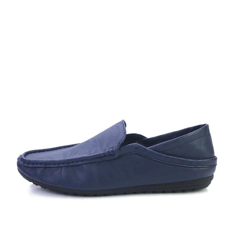 新品 ビジネスシューズ スリッポン メンズシューズ 紳士靴 カジュアル カジュアルシューズ ローファー 803 ブルー 27cm/44_画像2