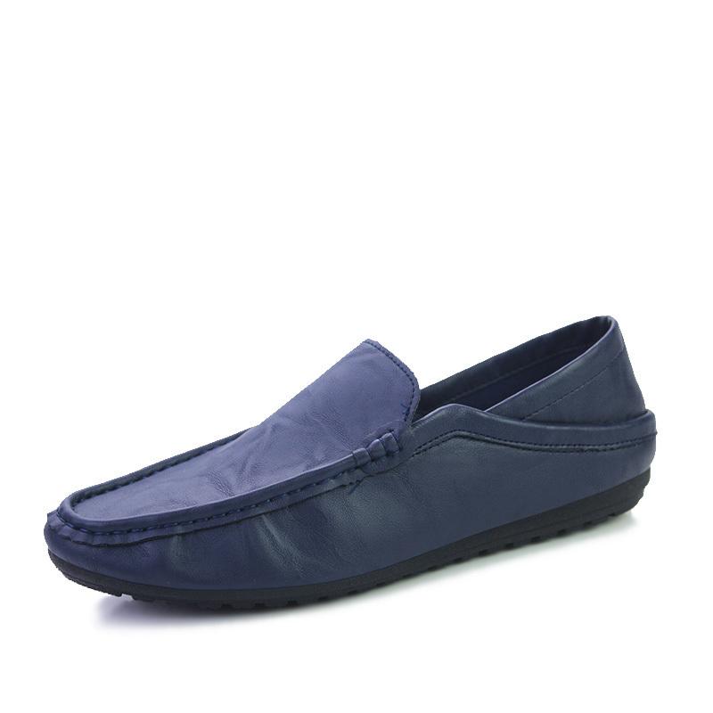 新品 ビジネスシューズ スリッポン メンズシューズ 紳士靴 カジュアル カジュアルシューズ ローファー 803 ブルー 27cm/44_画像3