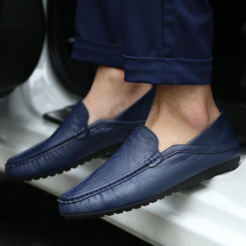 新品 ビジネスシューズ スリッポン メンズシューズ 紳士靴 カジュアル カジュアルシューズ ローファー 803 ブルー 27cm/44_画像7