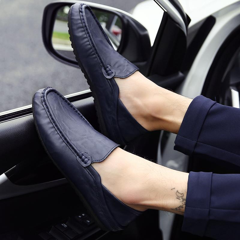 新品 ビジネスシューズ スリッポン メンズシューズ 紳士靴 カジュアル カジュアルシューズ ローファー 803 ブルー 27cm/44_画像8