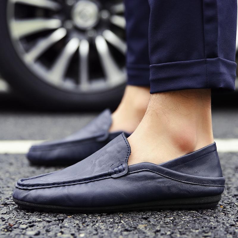 新品 ビジネスシューズ スリッポン メンズシューズ 紳士靴 カジュアル カジュアルシューズ ローファー 803 ブルー 27cm/44_画像5