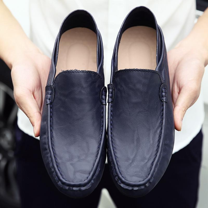 新品 ビジネスシューズ スリッポン メンズシューズ 紳士靴 カジュアル カジュアルシューズ ローファー 803 ブルー 27cm/44_画像4