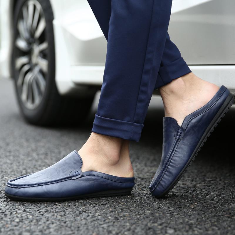新品 ビジネスシューズ スリッポン メンズシューズ 紳士靴 カジュアル カジュアルシューズ ローファー 803 ブルー 27cm/44_画像6
