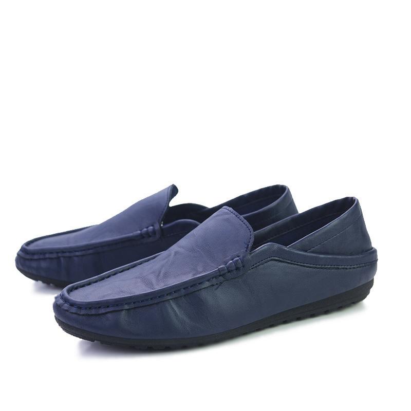 新品 ビジネスシューズ スリッポン メンズシューズ 紳士靴 カジュアル カジュアルシューズ ローファー 803 ブルー 27cm/44_画像1