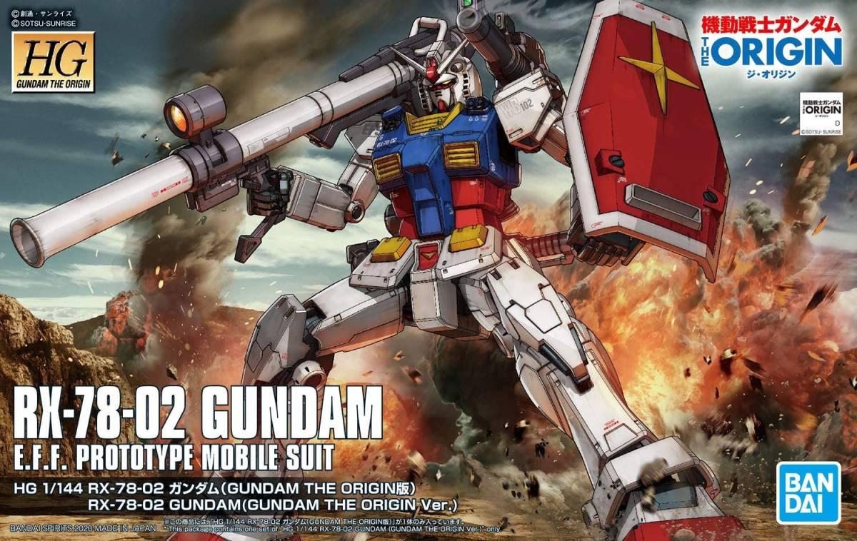 HG 1/144 ガンプラ 機動戦士ガンダム THE ORIGIN RX-78-02 ガンダム  完成品 制作代行_画像6