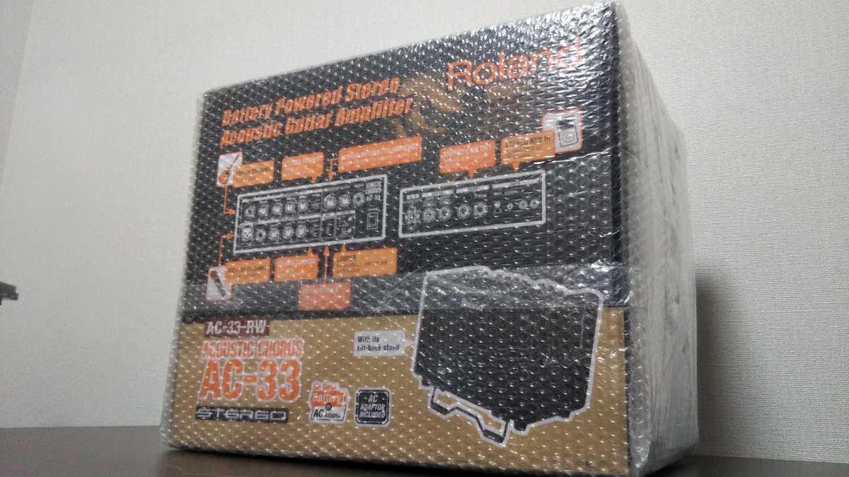 【未使用 未開封】Roland AC-33-RW ローズウッド ローランド アコースティック ギターアンプ _画像3