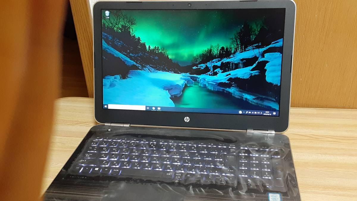 ほぼ新品 高性能ノートパソコン 「HP Pavilion Notebook15 au128tx」 15.6/Windows10/メモリ16GB SSD1TB+HDD1TB_メモリ16GBで、超美品です