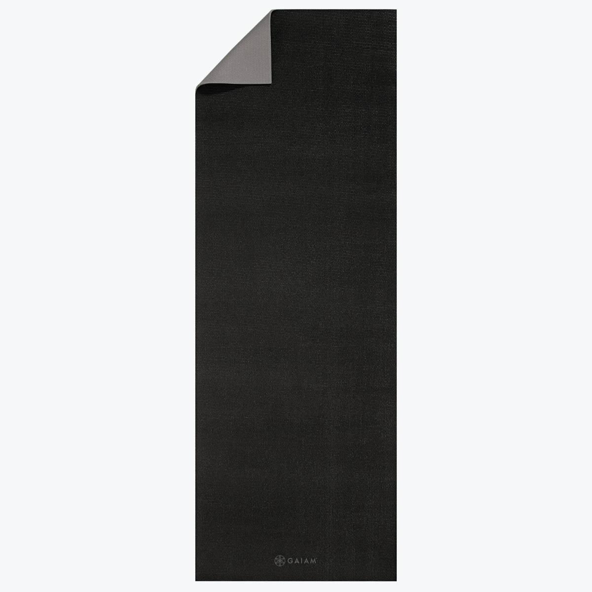 送料無料 gaiam ヨガマット 2Color granite storm 黒 灰 YOGA MAT 4mm エクササイズ ピラティス フィットネス ブラック グレー 無地